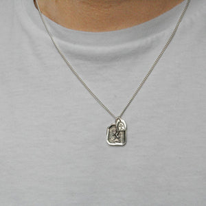 LION AND THE CROSS NECKLACE Lion Necklace Hetariki Jewellery