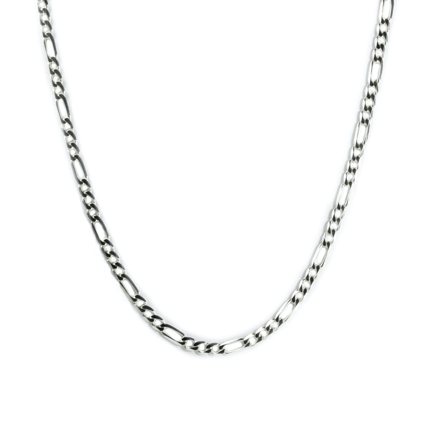 CHUNKY SILVER FIGARO NECKLACE Hetariki Jewellery