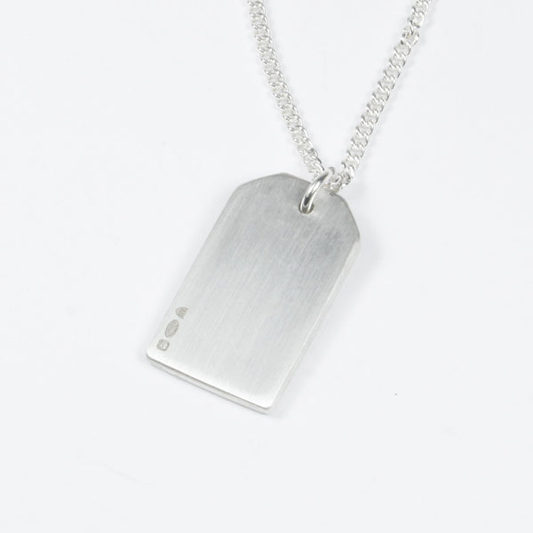 SILVER GIFT TAG NECKLACE - BRUSHED FINISH Gift Tag Hetariki Jewellery