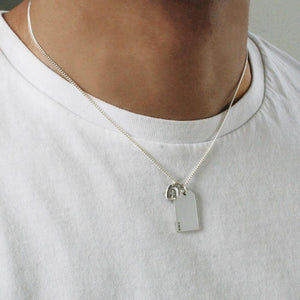 SILVER GIFT TAG WITH LITTLE CROSS NECKLACE Gift Tag Hetariki Jewellery