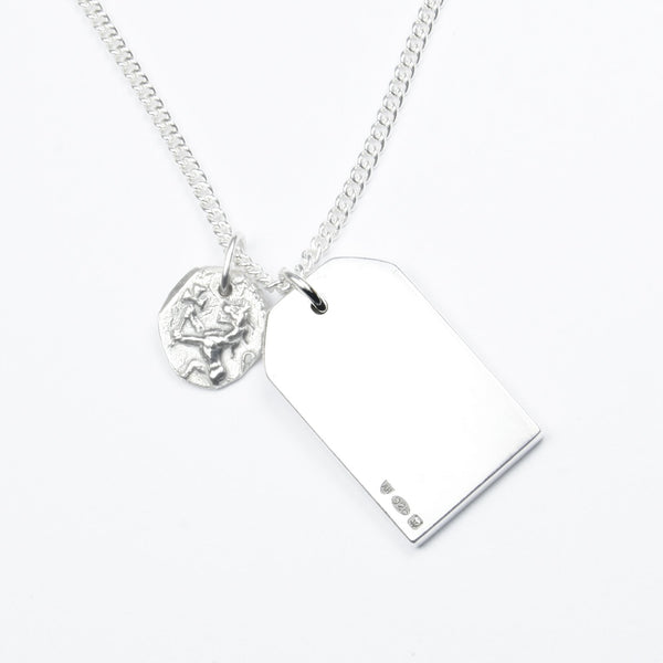 SILVER GIFT TAG WITH LITTLE LION NECKLACE Hetariki Jewellery