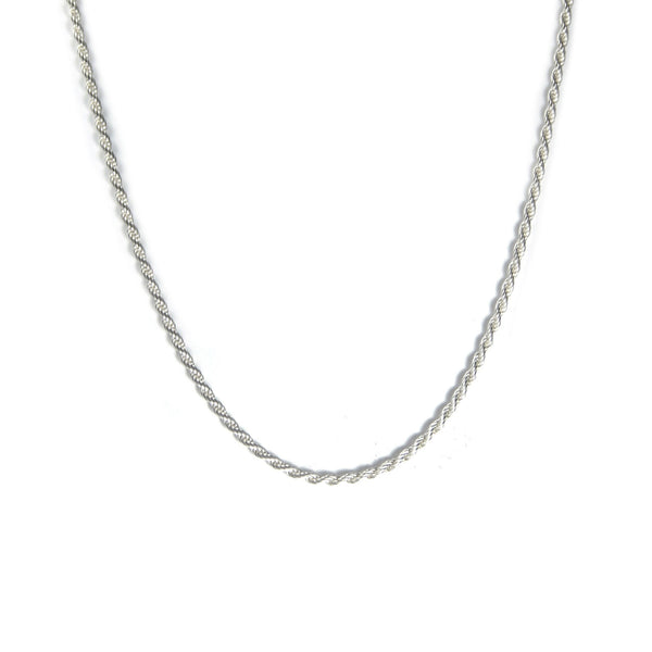 SILVER ROPE NECKLACE Hetariki Jewellery
