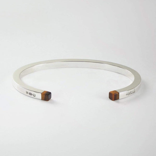 SQUARE CUFF - TIGER'S EYE Square cuff Hetariki Jewellery