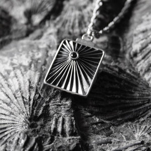 THE BLACK STAR TALISMAN - SILVER CHAIN Hetariki Jewellery