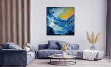 "Load image into Gallery viewer, Wave Goodbye  60"" X 60"" - SOLD"