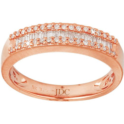 0.27ct Diamond Eternity Ring in 9ct Rose Gold Claw and Channel Set Rings