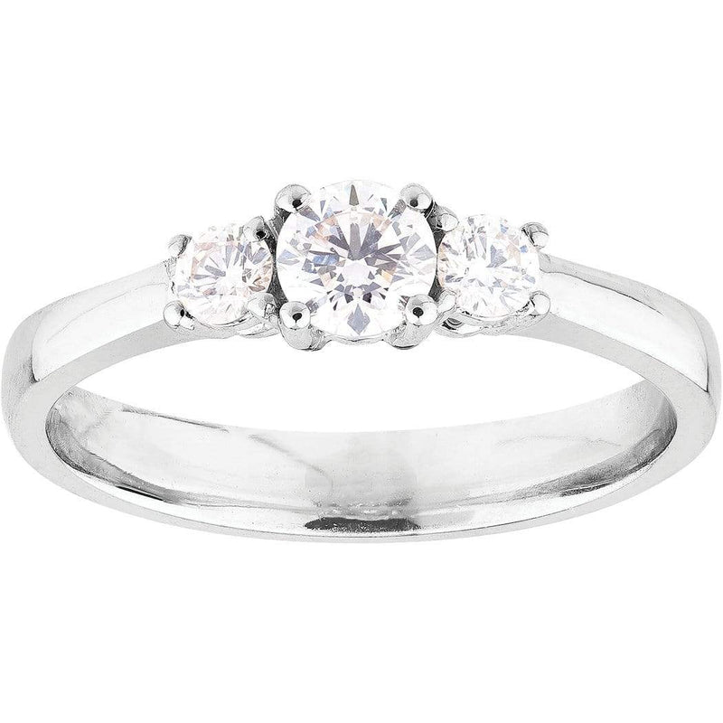 0.30ct Diamond Trilogy Ring in 18ct White Gold Trilogy Rings
