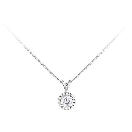0.50ct Diamond Necklace in 18ct White Gold