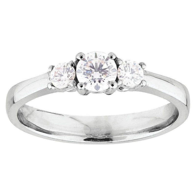 0.70ct Diamond Trilogy Ring in 18ct White Gold Trilogy Rings
