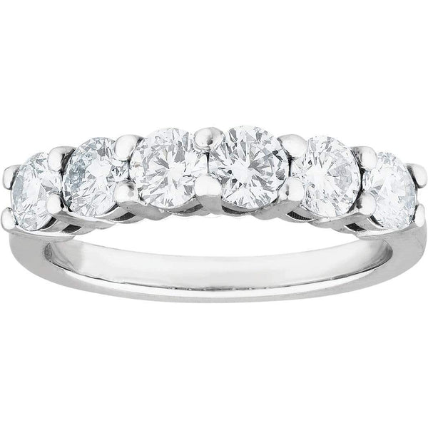 e685301273fd60 1.00ct Diamond Eternity Ring in 18ct White Gold Eternity Rings