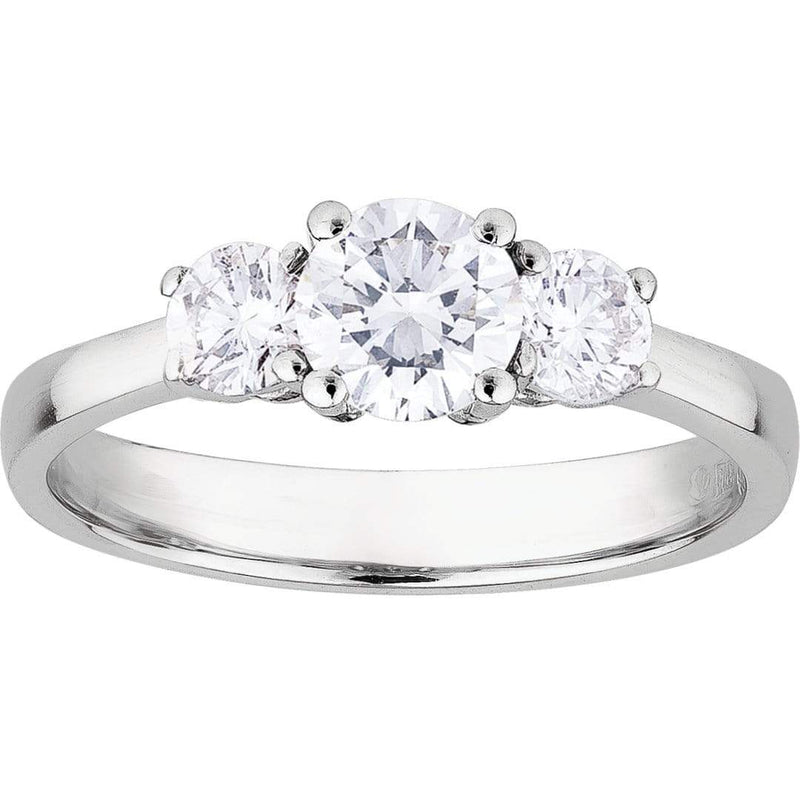 1.50ct Diamond Trilogy Ring in 18ct White Gold Trilogy Rings