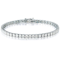 5.00ct Diamond Tennis Claw Set in 18ct White Gold Tennis Bracelets