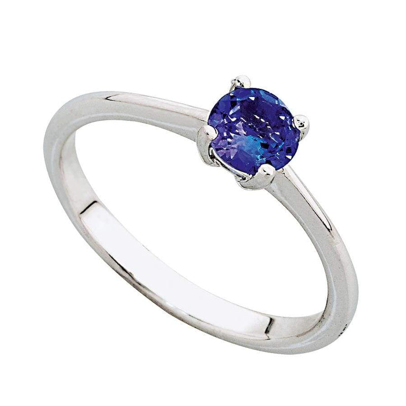 9ct White Gold Tanzanite Solitaire Ring Solitaire Rings