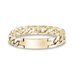 Gold Steel Large ID Bracelet