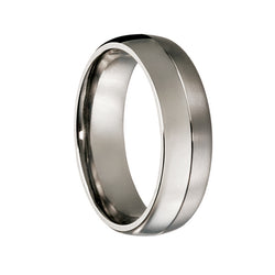 Titanium Matt & Gloss Wedding Ring - JDC Jewellers