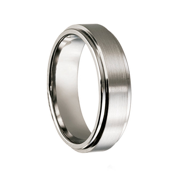 Titanium with Raised Centre Wedding Band