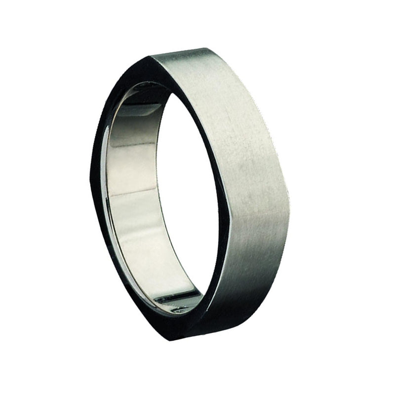 Titanium Square Shaped Wedding Ring - JDC Jewellers