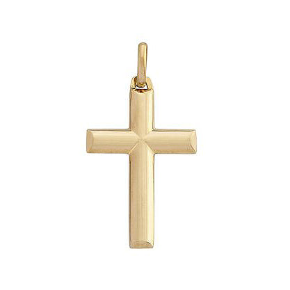 35mm Gold Cross Pendant in 9ct Yellow Gold