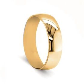 6mm Curved Wedding Ring in 9ct Yellow Gold