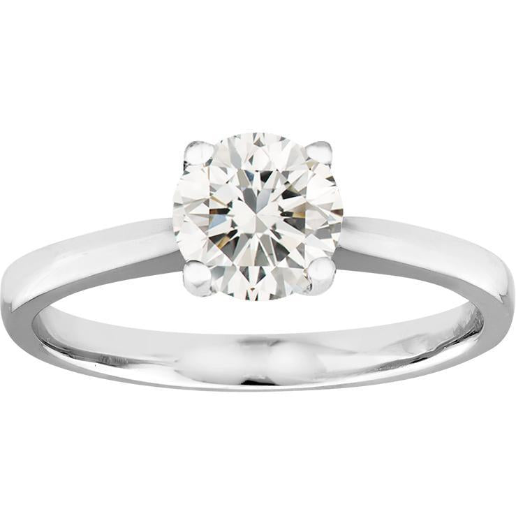 0.90ct Engagement Diamond Solitaire Ring in 18ct White Gold