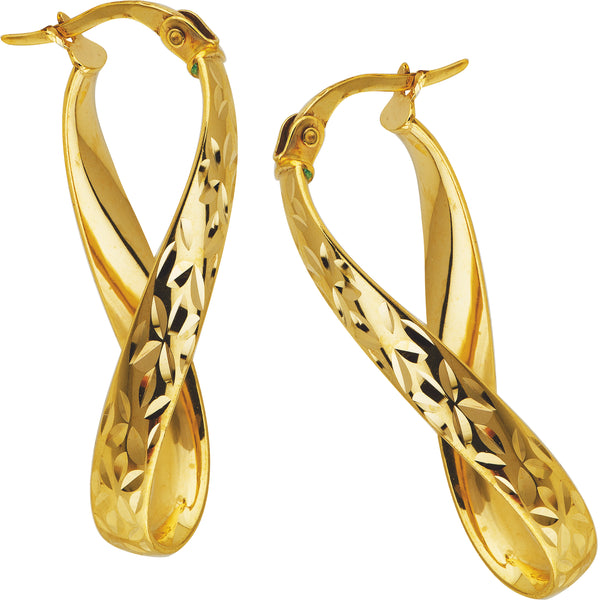 Twist Hoops in 9ct Yellow Gold