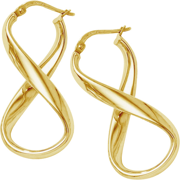 Plain Twist Hoops in 9ct Yellow Gold