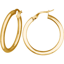 2mm Medium Hoops in 9ct Yellow Gold