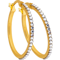 Studded Hoops in 9ct Gold