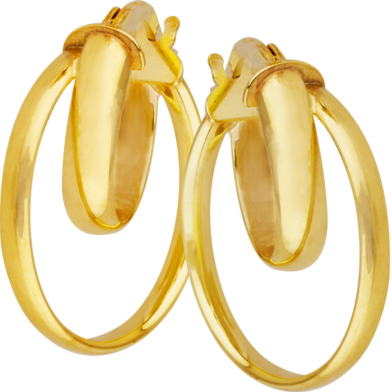 Double Hoops in 9ct Yellow Gold