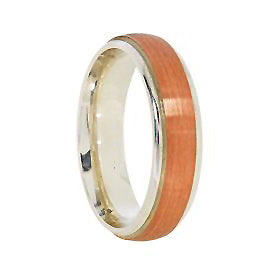 6mm Argentium Brushed Wedding Band in 9ct Rose Gold
