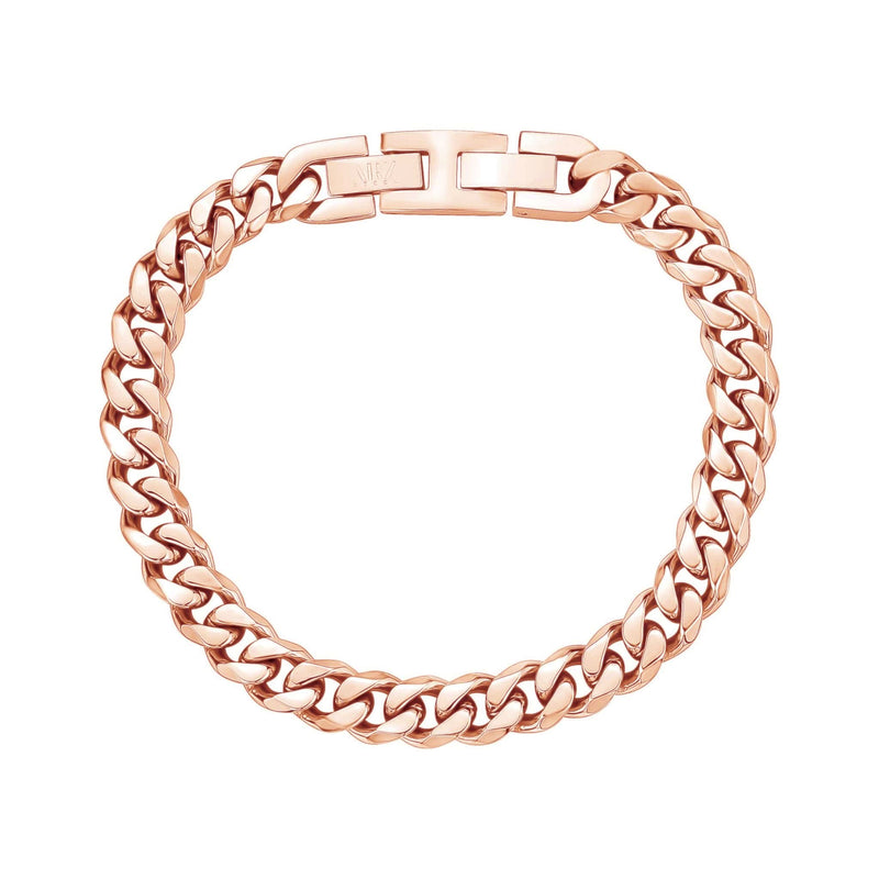 8mm Rose Gold Cuban Link Bracelet