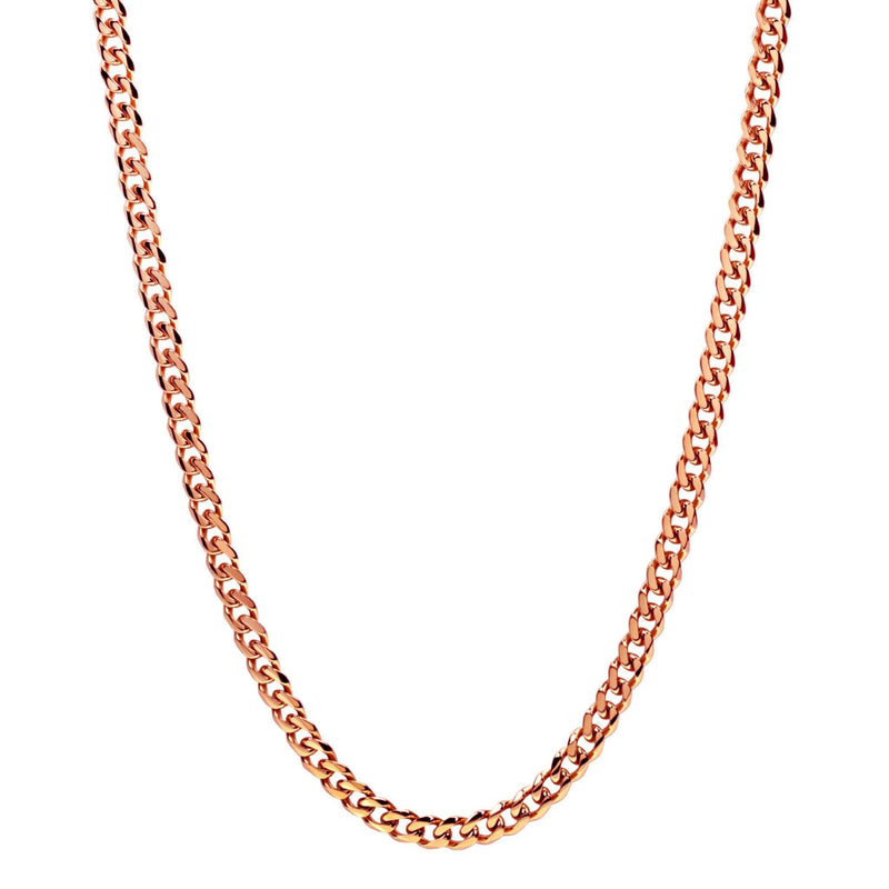 8mm Rose Gold Cuban Link Necklace 60cm
