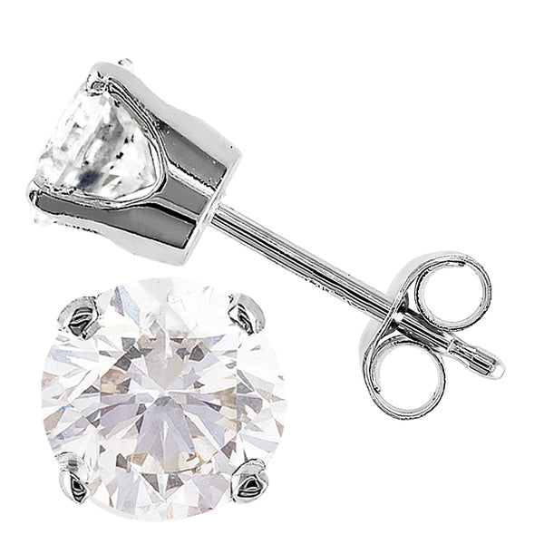 1.00ct Perfect Pair Diamond Studs in 18ct White Gold