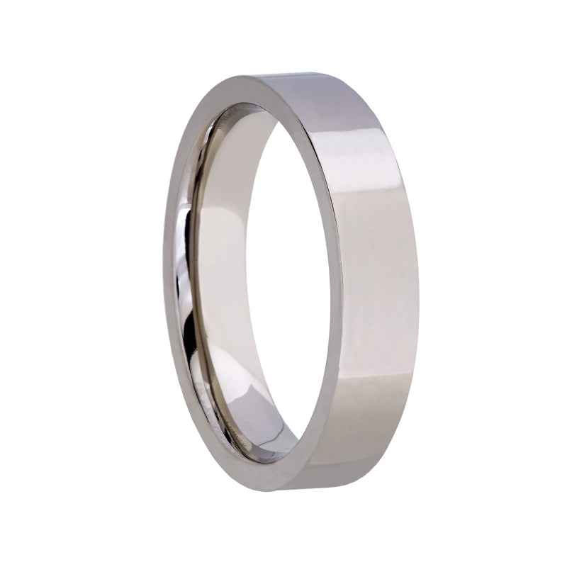 Titanium Polished Finish Flat Wedding Band