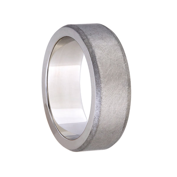 Titanium Brushed Finish Wedding Band