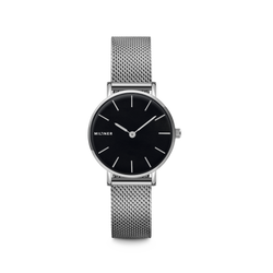 Millner Mini Silver Black Ladies Watches