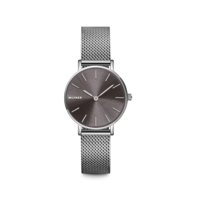 Millner Mini Silver Graphite Ladies Watches