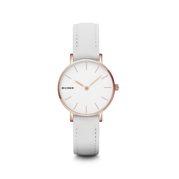 Millner Mini White Leather Watch Ladies Watches