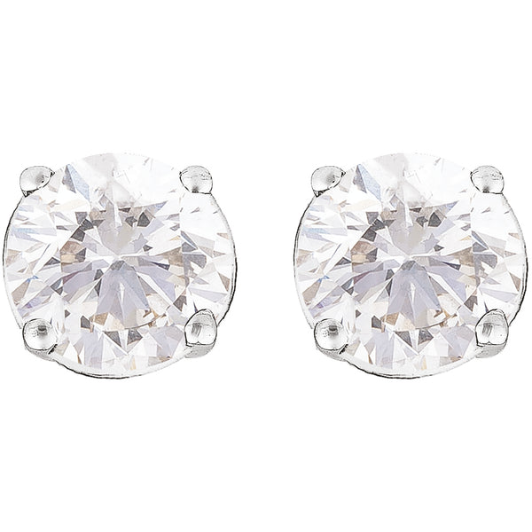 0.80ct Perfect Pair Diamond Studs in 18ct White Gold
