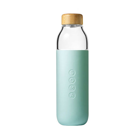 Soma Mint Glass Water Bottle 17oz.