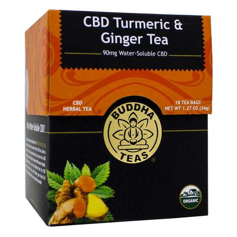 Buddha Teas CBD Turmeric and Ginger Tea