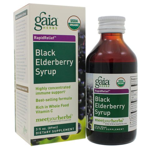 Gaia Herbs Black Elderberry Syrup