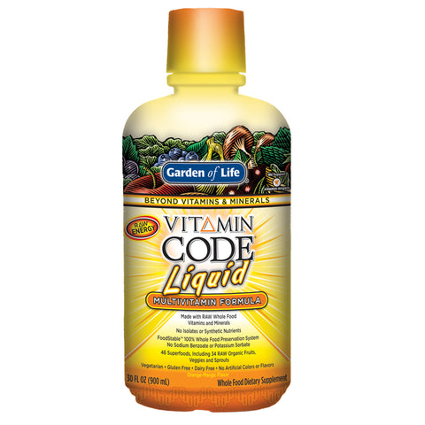 Garden of Life Vitamin Code Liquid Multi Orange Mango