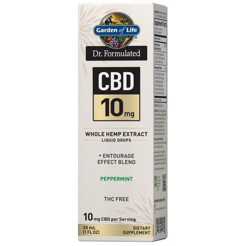 Garden of Life Dr. Formulated CBD Oil 10mg Peppermint Drops