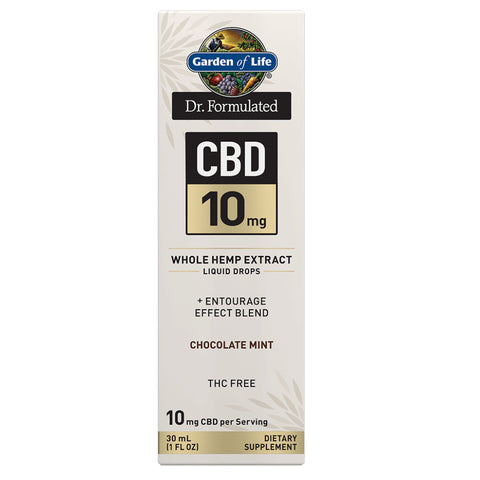 Garden of Life Dr. Formulated CBD Oil 10mg Chocolate Mint Drops