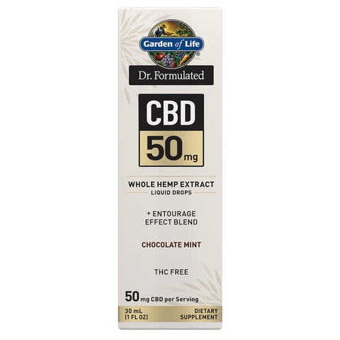 Garden of Life Dr. Formulated CBD Oil 50mg Chocolate Mint Drops