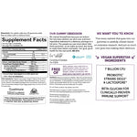 SmartyPants Vitamins Adult Probiotic Complete Blueberry