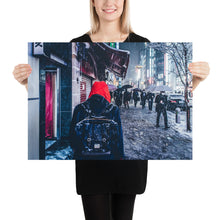 Poster - Snowy night in Tokyo 03 / Color Redefining - Red