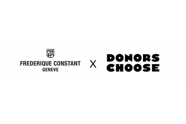 FREDERIQUE CONSTANT SUPPORTS TEACHERS WITH A<br> $50 DONORSCHOOSE GIFT CARD WITH EVERY PURCHASE