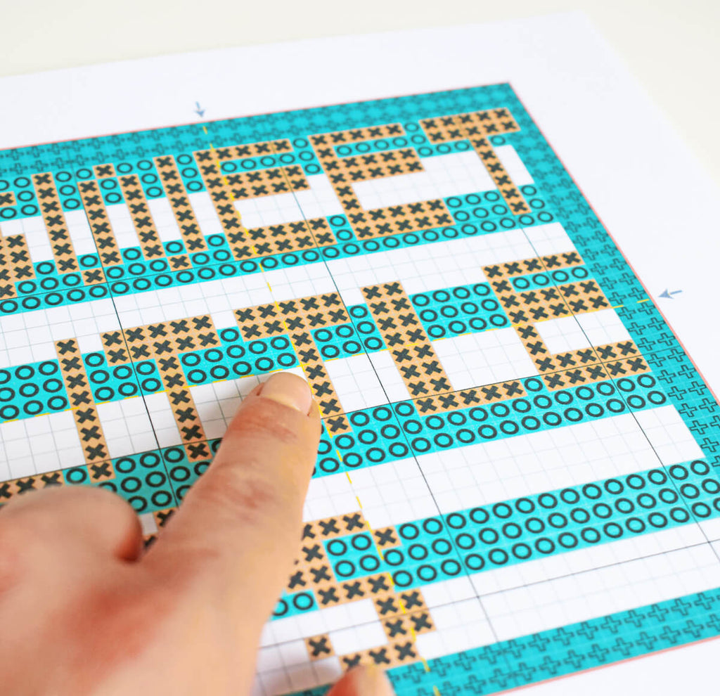 Find the centre of your cross stitch pattern - how to cross stitch